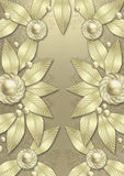 Art Deco Metallic Leaf background. A very elegant, expensive looking metallic background that is layered with metallic leaves and flowers styled after the Royalty Free Stock Images