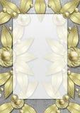 Art Deco Metallic Leaf frame Stock Photo