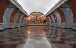 Art deco metro station in Moscow royalty free stock images