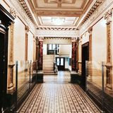 Art Deco mieszkania lobby Obrazy Stock