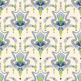 Art deco modern pattern graphic ornament background. Repeating t Stock Photo