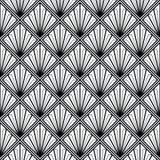 Art Deco monochrom bezszwowy Fotografia Stock