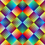 Art deco mosaic tile in retro style. Symmetric abstract seamless ornament background in vivid colors Stock Image