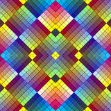 Art deco mosaic tile in retro style. Symmetric abstract seamless ornament background in vivid colors Stock Photography