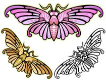 Art Deco Moth Images libres de droits