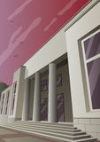 Art Deco Museum. Cartoon museum or gallery building in Art Deco style Royalty Free Stock Images