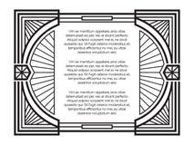 Art Deco obramia szablon odizolowywającego na białym tle Obrazy Stock