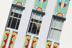 Art Deco in Oceaanaandrijving, het Strand van Miami Royalty-vrije Stock Afbeelding