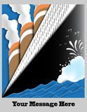 Art Deco Ocean Liner Poster with Space for Text Royalty Free Stock Photo
