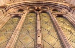 Art Deco okno w Strasburskim dworcu Obraz Stock