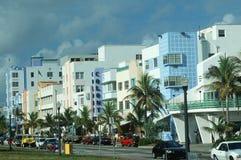 Art Deco Okręg, Południe Plażowy Miami, FL Obrazy Royalty Free
