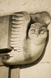 Art Deco Owl carving, Southampton Stock Photos