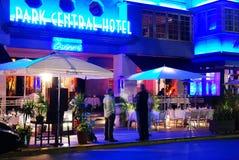 Art Deco Park Central Hotel i Miami Beach royaltyfri fotografi