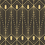 Art deco pattern. Abstract art deco seamless monochrome background. Vector illustration royalty free illustration