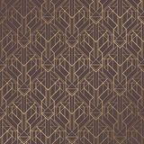 Art Deco Pattern. Seamless golden background. Minimalistic geometric design. Vector line design. 1920-30s motifs. Luxury vintage illustration Royalty Free Stock Photo