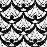 Art Deco Pattern. Seamless grunge background. Minimalistic geometric design. Vector line design. 1920-30s motifs. Luxury vintage illustration Royalty Free Stock Photos