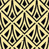Art Deco Pattern. Seamless grunge background. Minimalistic geometric design. Vector line design. 1920-30s motifs. Luxury vintage illustration royalty free illustration