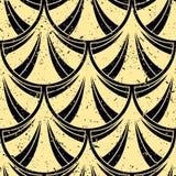 Art Deco Pattern. Seamless grunge background. Minimalistic geometric design. Vector line design. 1920-30s motifs. Luxury vintage illustration stock illustration