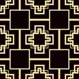 Art Deco Pattern. Seamless vintage background. Minimalistic geometric design. Vector line design. 1920-30s motifs. Luxury vintage illustration Royalty Free Stock Image