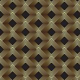 Art deco pattern background. Abstract art deco design background in gold and black royalty free illustration