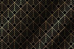 Art deco pattern background - Illustration. Art deco pattern textile with diamond shape - illustration royalty free illustration