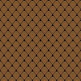 Art Deco Pattern dourado sem emenda Fotografia de Stock Royalty Free