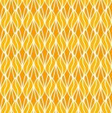Art Deco Pattern géométrique orange sans couture Fond floral de vecteur abstrait illustration de vecteur