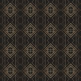 Art deco pattern gold lines black background Stock Photography