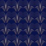 Art deco pattern gold lines bluebackground Stock Photos