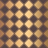 Art Deco Pattern Golden Squares raye le fond illustration stock
