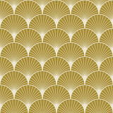 Art deco pattern of overlapping arcs Stock Images
