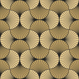 Art deco pattern of overlapping arcs Royalty Free Stock Photography