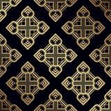 Art Deco Pattern. Seamless golden background. Geometric design. 1920-30s motifs. Luxury vintage illustration stock illustration