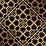 Art Deco Pattern. Seamless golden background. Geometric design. 1920-30s motifs. Luxury vintage illustration vector illustration