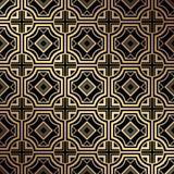 Art Deco Pattern. Seamless golden background. Geometric design. 1920-30s motifs. Luxury vintage illustration royalty free illustration