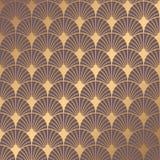 Art Deco Pattern. Seamless golden background. Minimalistic geometric design. Vector line design. 1920-30s motifs. Luxury vintage illustration stock illustration