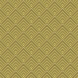 Art Deco Pattern. Seamless golden background. Minimalistic geometric design. Vector line design. 1920-30s motifs. Luxury vintage illustration Stock Images