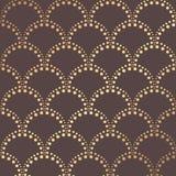Art Deco Pattern. Seamless golden background. Minimalistic geometric design. Vector line design. 1920-30s motifs. Luxury vintage illustration Stock Images
