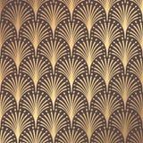 Art Deco Pattern. Seamless golden background. Minimalistic geometric design. Vector line design. 1920-30s motifs. Luxury vintage illustration Stock Photo