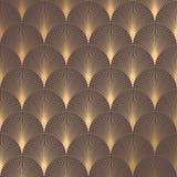 Art Deco Pattern. Seamless golden background. Minimalistic geometric design. Vector line design. 1920-30s motifs. Luxury vintage illustration Stock Photography