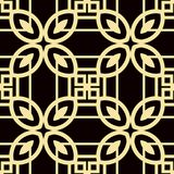 Art Deco Pattern. Seamless vintage background. Minimalistic geometric design. Vector line design. 1920-30s motifs. Luxury vintage illustration stock illustration