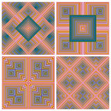 Art Deco Pattern Set Imagenes de archivo