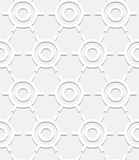 Art deco pattern. Vector geometric pattern with art deco motifs. Simple vector texture with round shapes in vintage 1920s and 1930s style. Decorative retro Royalty Free Stock Photography