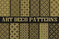 Art Deco Patterns ilustração stock
