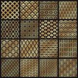 Art Deco Patterns Lignes d'or décoratives, ligne angulaire cadre et ensemble de vecteur de modèle d'or de 1920 arts illustration stock