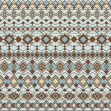 Art Deco Pattern. Seamless pattern of abstract borders in blues and browns. EPS AI8 File: Borders are grouped and can be easily rearranged or used individually Stock Photo