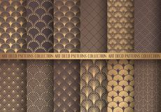 Art Deco Patterns Set illustrazione vettoriale