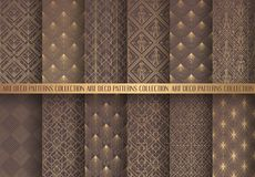 Art Deco Patterns Set illustration stock