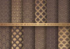 Art Deco Patterns Set Royalty Free Stock Images