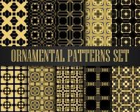 Art Deco Patterns Set ilustração do vetor